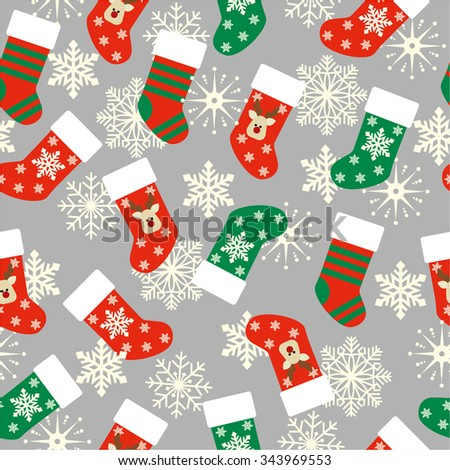 christmas stockings seamless