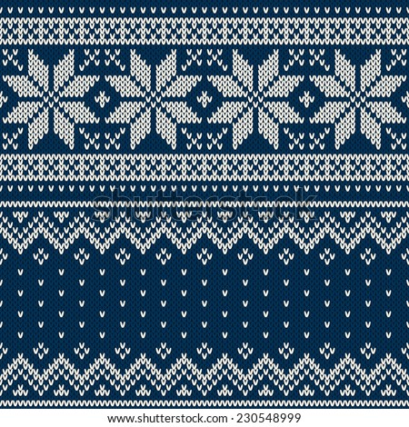 Christmas Sweater Design Seamless Knitting Pattern Free Image