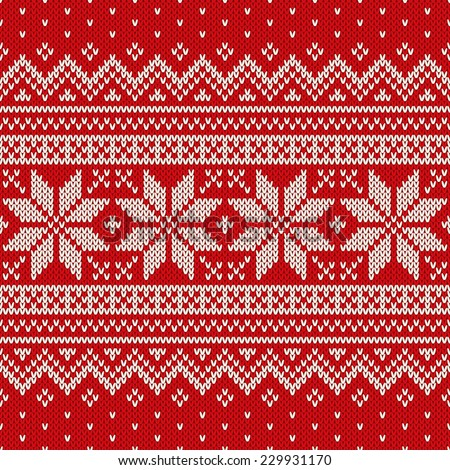 Christmas Sweater Design. Seamless Pattern Stock Vector Illustration
