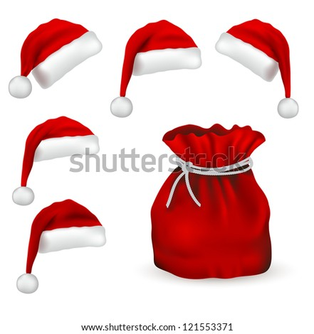 Christmas symbol set isolated on white background