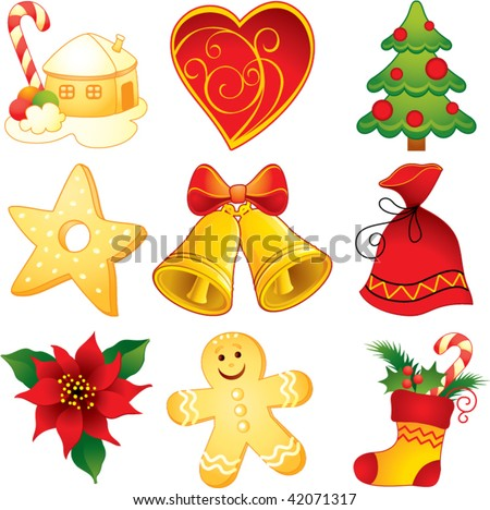 stock vector : Christmas symbols