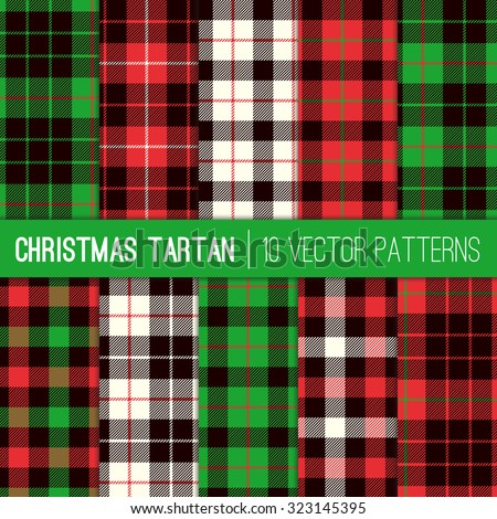 christmas tartan plaid patterns