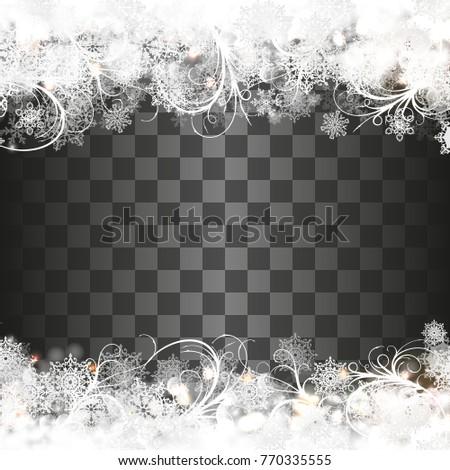 christmas template snowflakes border vector ez canvas
