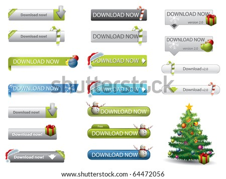 Christmas theme website download buttons