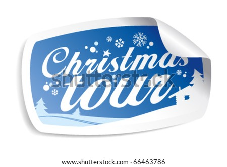 Christmas tour vector sticker.