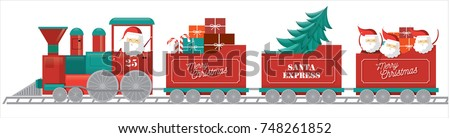 christmas train vector/illustration