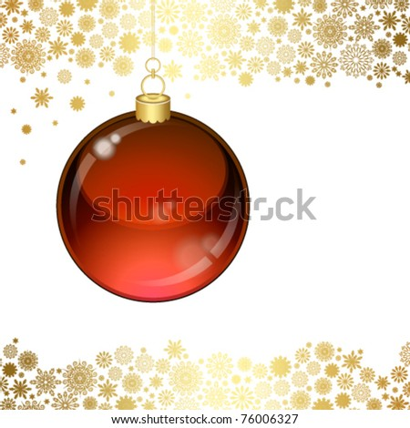 Christmas transparent ball