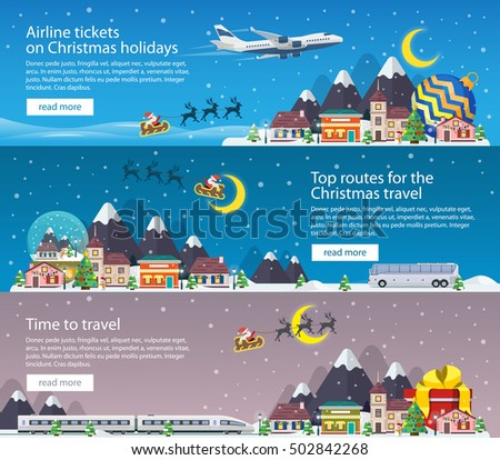 christmas travel banners in
