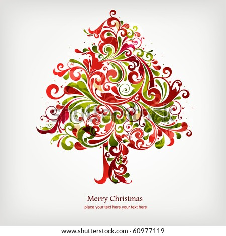 Stock Vector on Christmas Tree Stock Vector 60977119   Shutterstock