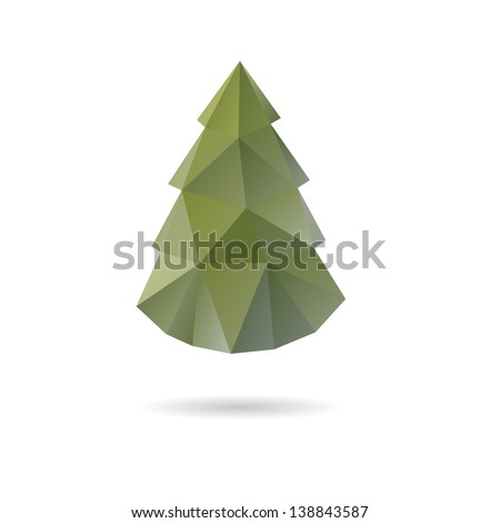Christmas tree abstract isolated on a white backgrounds