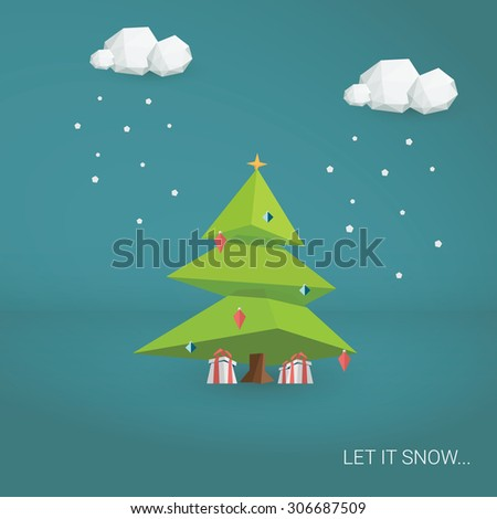 christmas tree background low