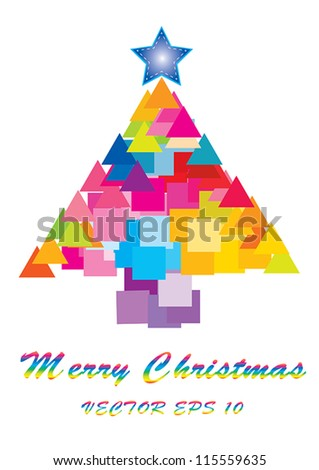 Christmas tree background vector illustration - stock vector