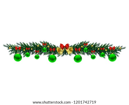 Christmas tree branch with toys #1201742719