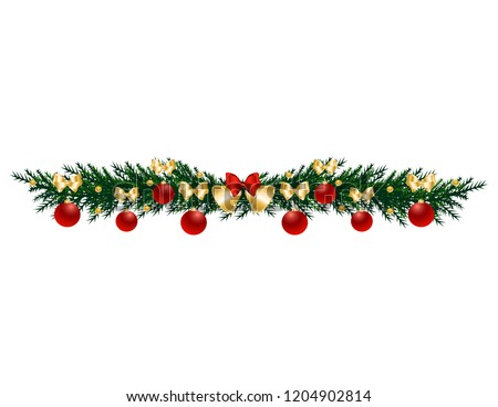 Christmas tree branch with toys #1204902814