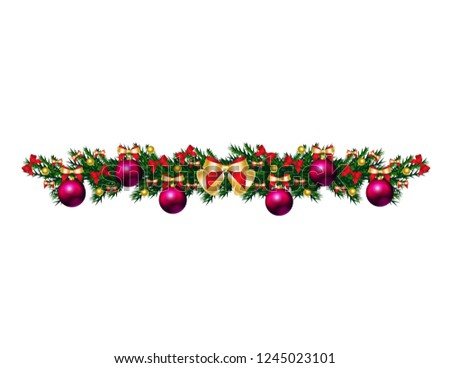Christmas tree branch with toys #1245023101