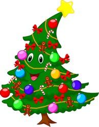 Christmas tree cartoon character