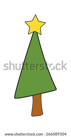 Christmas Tree Clipart #266089304