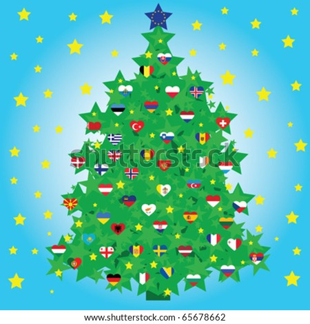 christmas tree decorated with Christmas Tree Shape With Star
