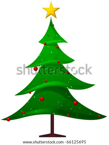 Christmas Tree Design Featuring a Christmas Tree with Jagged Edges