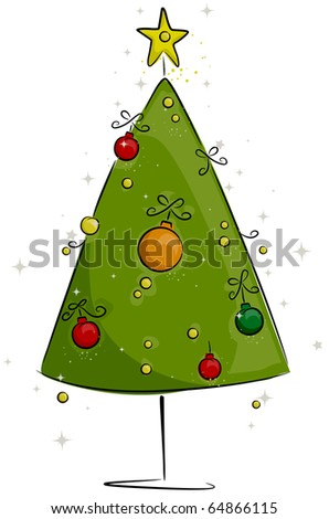 Christmas Tree Design with a Retro Look