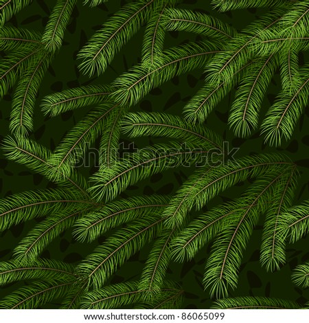 Christmas tree fir branch seamless background