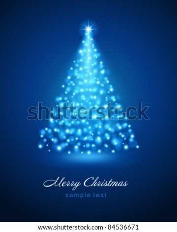 Christmas tree from light vector background Eps 10