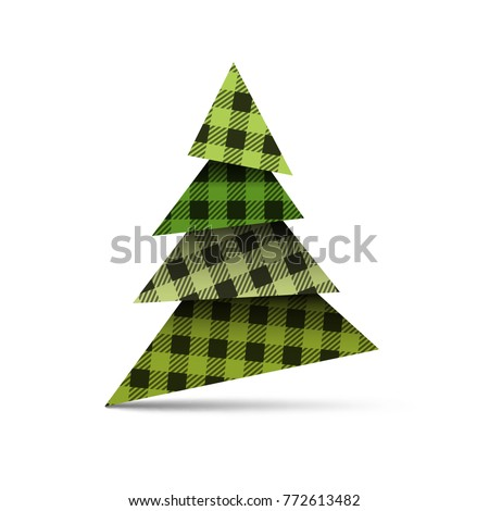 christmas tree from pieces of
