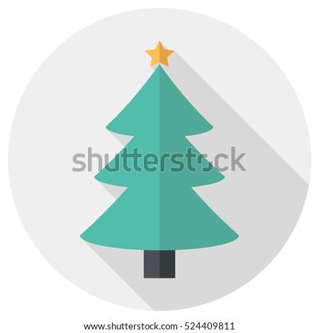 christmas tree icon  flat