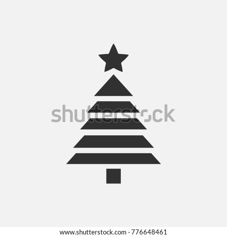 Christmas tree icon illustration isolated vector sign symbol #776648461