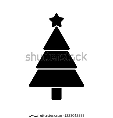 Christmas tree icon vector #1223062588