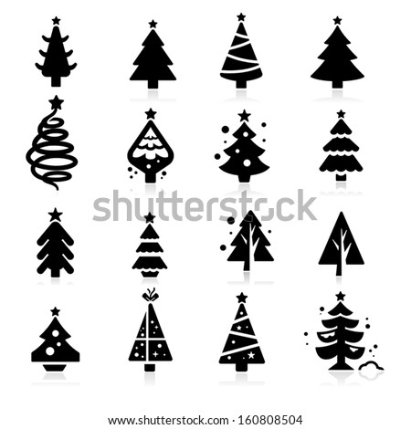 stock-vector-christmas-tree-icons