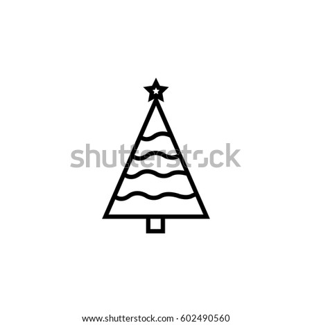 Christmas tree icons #602490560