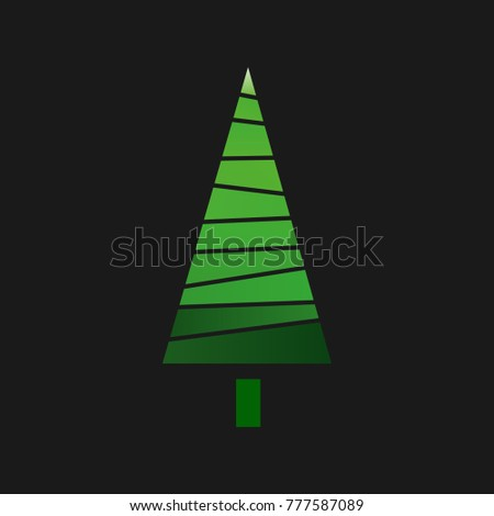 Christmas tree in the background,vector illustration #777587089