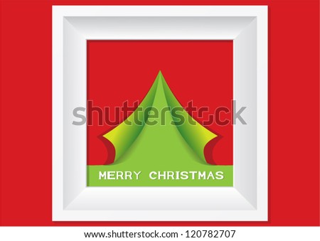 Christmas tree in the frame