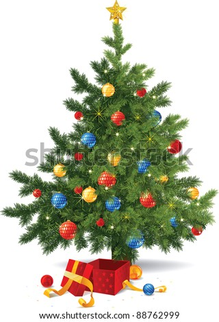 christmas tree in vector