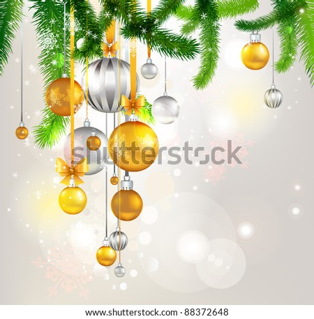 Christmas tree light background. Eps 10