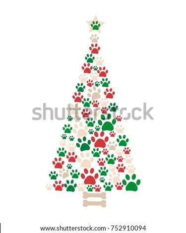 christmas tree made of bone and