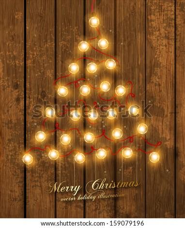 christmas tree made of