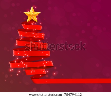christmas tree made of red