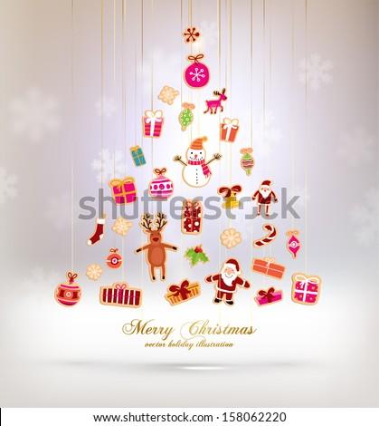 christmas tree made of xmas