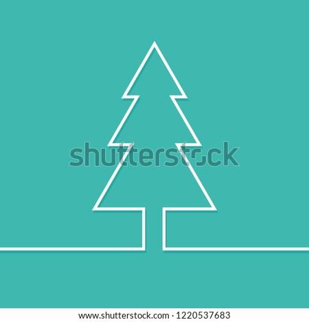 Christmas tree modern