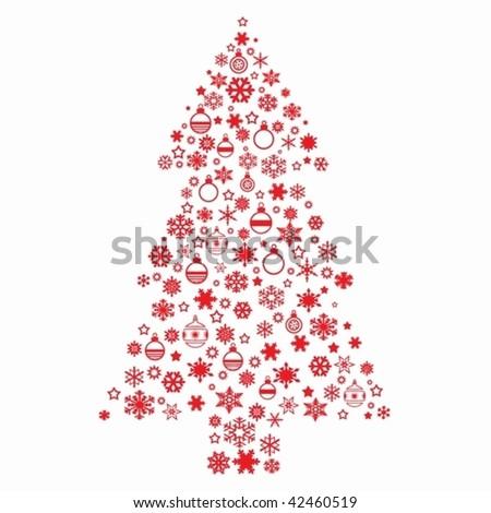 White Christmas Background Christmas Tree on a White