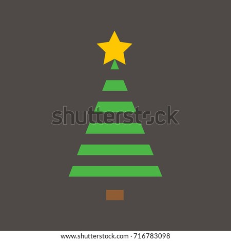 Christmas Tree on the dark grey background for the Christmas Festival. #716783098