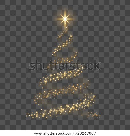 christmas tree on transparent
