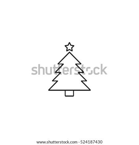 christmas tree outline icon, can be used for web and mobile design