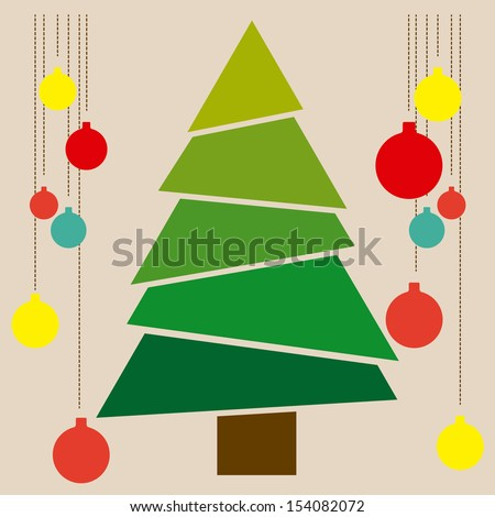 stock-vector-christmas-tree-over-blue-background-vector-illustration