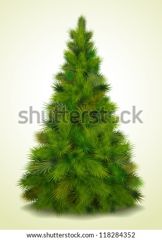 Christmas tree realistic vector illustration