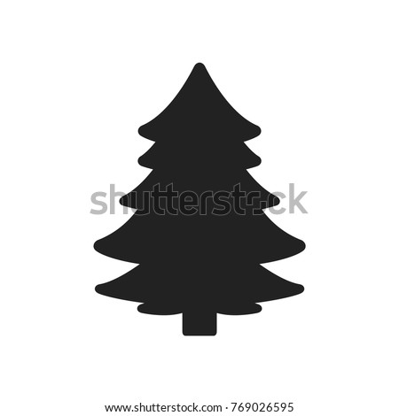 stock-vector-christmas-tree-silhouette-vector-icon-illustration