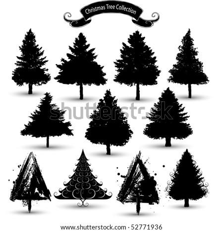 Christmas Tree Silhouette Vector Free Christmas Tree Silhouettes