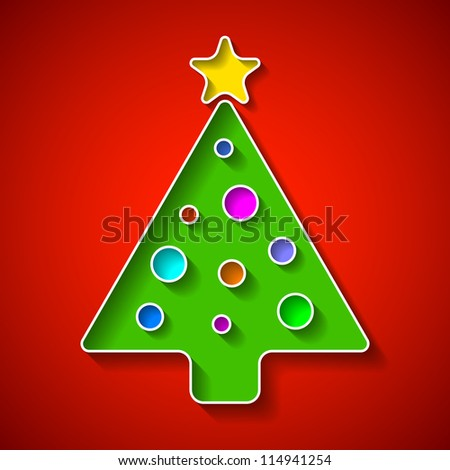 Christmas tree. Vector.